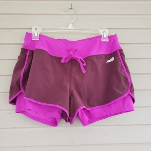 Avia Purple Active Running Shorts with Liner
